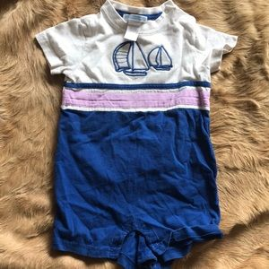 Janie and Jack one piece sailboat outfit.